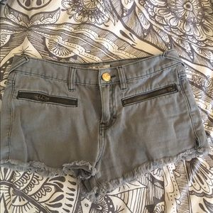 Grey Free People Shorts final!